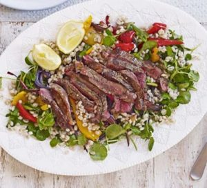 steak-roasted-pepper-pearl-barley-salad